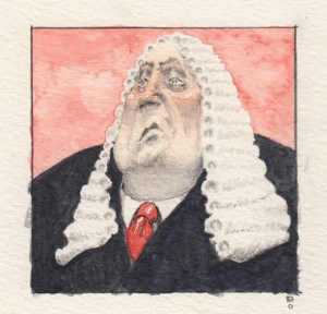 Judge watercolor